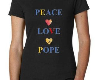 Peace Love Pope T-Shirt
