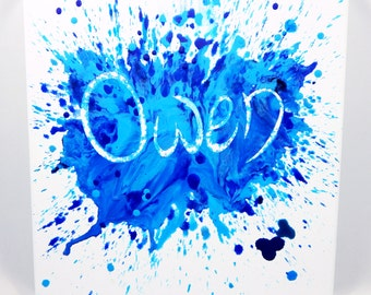 Crayon Splash Canvas: Melted Crayon Art makes a unique gift for men, women, and kids! Personalize with any name you choose!