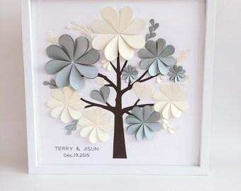 Wedding Alternative guest book // Unique Wedding Tree // Guest Book Tree // Custom Wedding Guest Book // 3D Heart Guest Book  // NICYA store