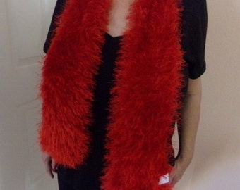 Knitted Furry Scarf