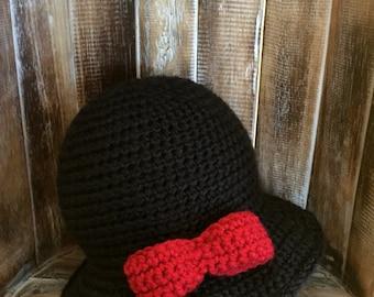 CLASSIC CLOCHE, Crochet hat, Winter hat, Cloche, Bow