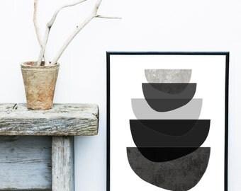 Scandinavian Print, Abstract Art Print, Mid Century Modern, Art Print,  Giclee print, Modern Wall Art,  Large Print, Abstract Art