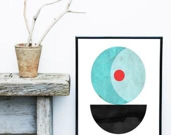 Scandinavian Art, Abstract Art Print, Mid Century Modern, Art Print, Textured, Giclee print, Wall Art,  Poster, Wall Decor