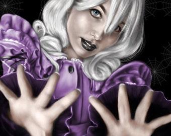 Witch webs art print