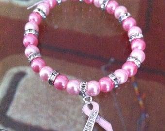 Breast Cancer Awareness Survivor Bracelet