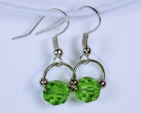 Earrings with green pearl earrings green green pendant earrings pearl jewelry