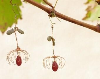 Wire flowers earrings