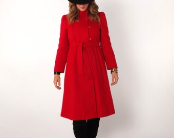 Red military coat | Etsy