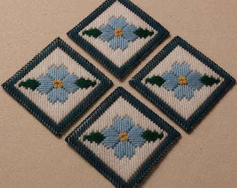 Blue Flower Coasters