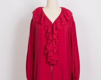 Ruby Red Pirate Blouse