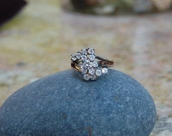Crystal Swirl Ring size 6
