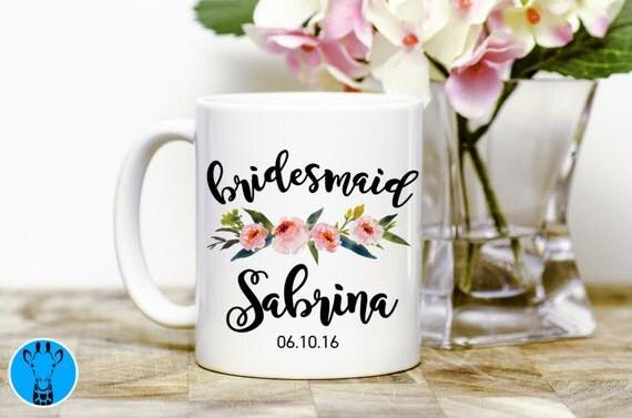 ... , Bridesmaids Mugs, Wedding Gift, Personalized Mug, Bridesmaid Gift