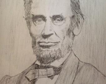 Lincoln Original artwork in pecil