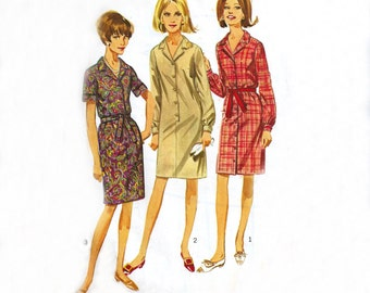 Simplicity 6698 | Vintage Sewing Pattern 1966 | One Piece Dress | Size 18, Bust 38