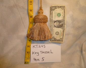 "KT245  4"" Camel Key Tassel 5 Count"