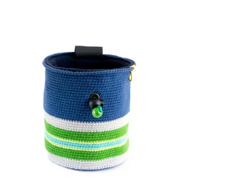 Chalk Bag for Rock Climbing. Chalk Bag for Climbing. Chalk Bag for Bouldering. Handmade - Knitted, Crocheted And Fair Trade, L Size