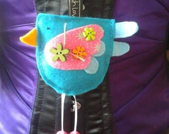 Decorative felt bird hanging