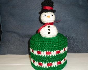 3D Snowman Toilet Paper Cover Crochet Pattern,Snowman Toilet Paper Cover Crochet Pattern,Christmas Crochet Pattern