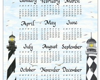 Personalized Wall Calendar - Lighthouse