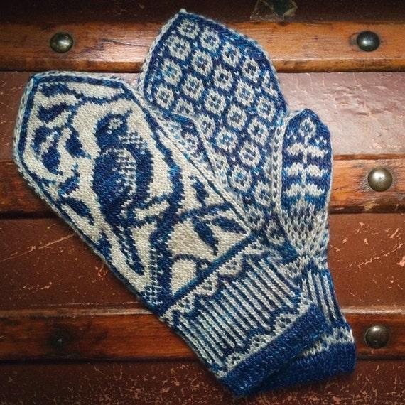 PDF Knitting Pattern Songbird Mittens