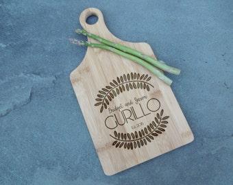 Last Name Paddle Board, Custom Cutting Board, Personalized cutting board, Custom Cheese Board, Housewarming, Holiday, Wedding, Real estate