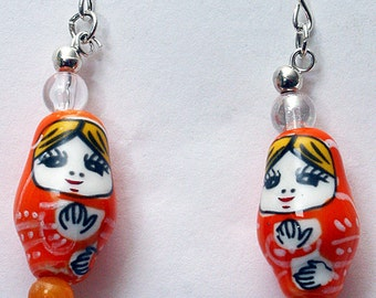 Japanese Collection: Russian Dolly Earrings