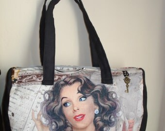 Pin-up girl bowling bag