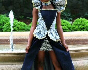 Queen Couture Denim High Low