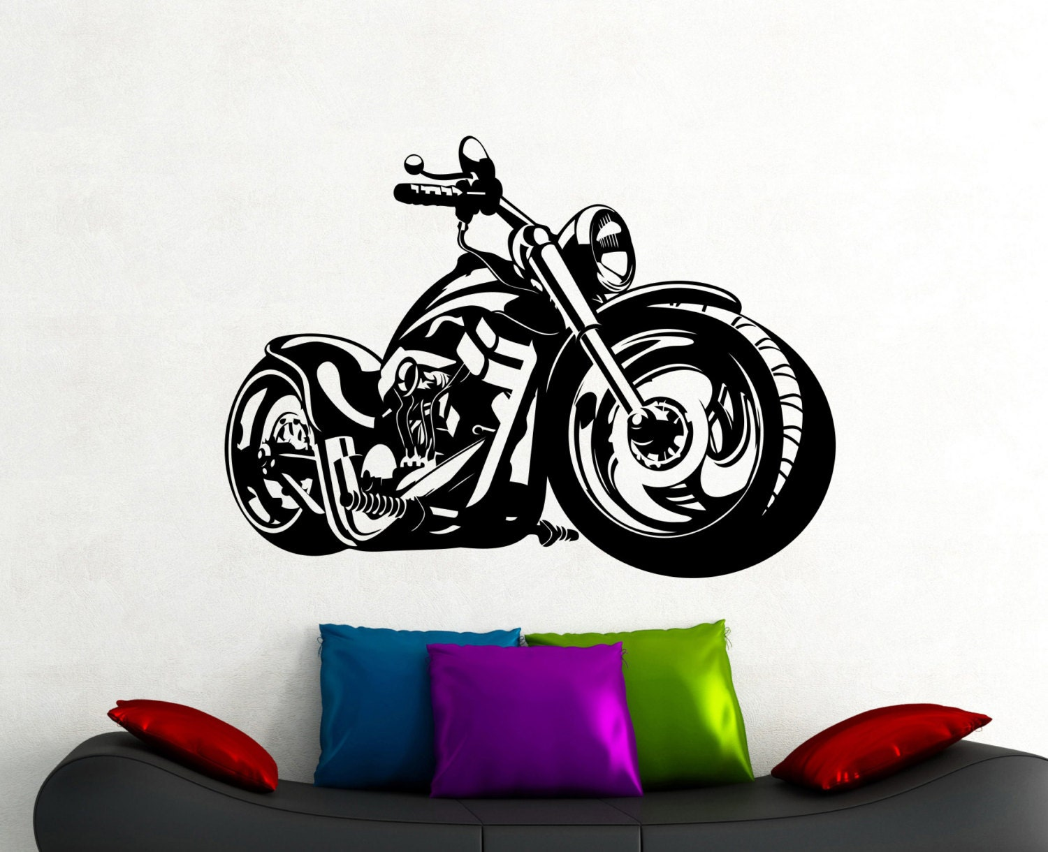bike wall sticker motorcycle decals home interior design room