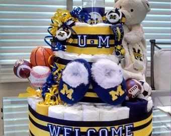 Sports Diaper Cake!! Sport Themed Diaper Cake,