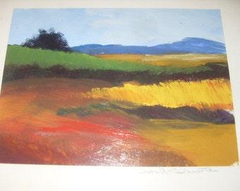 Gerald Schwartz Painting Oil on  Paper