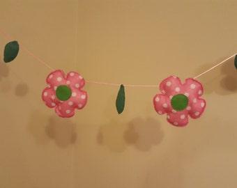 Baby Nursery Decor Padded Flower Garland