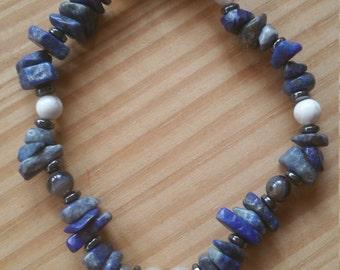 Lapis Lazuli Power, Self-Confidence, Aid for Depression Bracelet