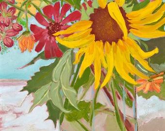 Summer Bouquet with Sunflower
