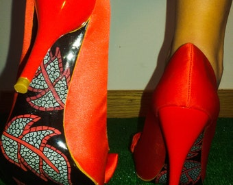 High Heels hand painted soles-heels with hand - painted soles