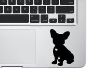 French Bulldog Decal, Dog Sticker, Pet Decal, Love Dog Decal, Bulldog Sticker, Laptop Sticker, Phone Decal, Laptop Decal, MacBook Decal