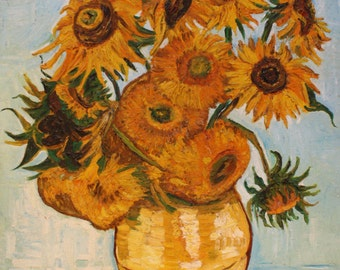 Custom copies Vase with twelve sunflowers vase with twelve sunflowers (Van Gogh copy 1888)