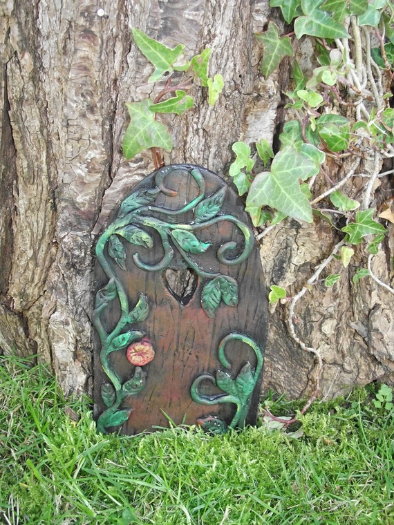 Hand made extra large fairy door with magic fairy by for Large gnome doors