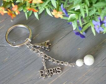 Paris Keychain, Eiffel TowerKeychain, Paris
