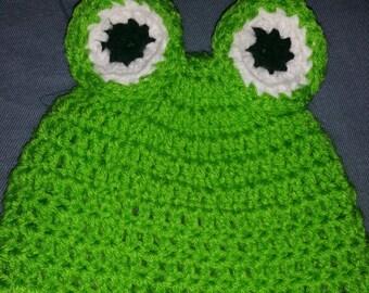 Crochet Frog beanie