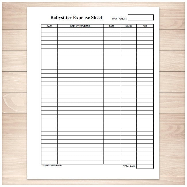 Magic image with free printable expense sheet