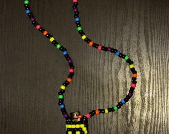 Smiley Lighter Kandi Necklace