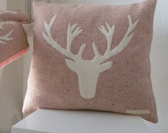 Pillow with deer