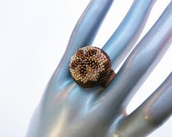 Crystal flower ring - Flower Ring - Crystal Ring