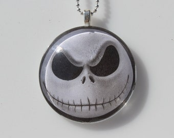 Pumpkin King Glass Pendant Necklace