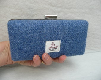Harris Tweed Clamshell Clutch//Clamshell Purse//Minaudiere//Wedding Purse