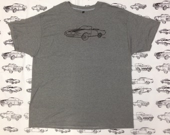 Chevy Camaro Tee Shirt-Chevy Camaro Gift- Camaro Tee Shirt-Muscle Car Tee Shirt- Classic Car Tee- Hand Drawn- Screen Print- Size Extra Large