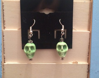 Glass Skull Earrings