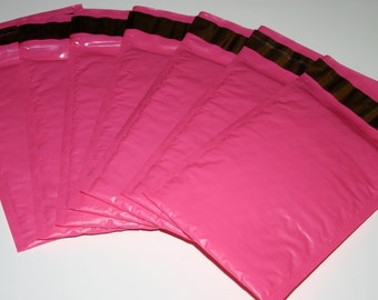 10 4x8 Hot Pink  Bubble Mailers Size 000 Self Sealing Shipping Envelopes Valentine Spring Easter