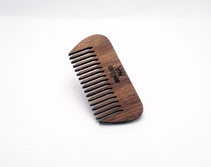 Walnut Handmade Wood Combs - Beard walnut combs - GenteelWood tiny combs - Minimalistic combs - Hair combs gift - Slim combs - Everyday use